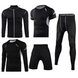 Men Sportswear Compression Sport Suits Quick Dry Running Sets - HYM Store
