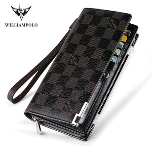 Williampolo 2020 New fashion men long wallet genuine leather purse handbags - HYM Store