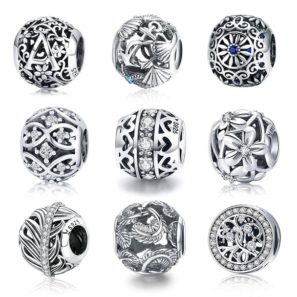 WOSTU Hot Sale Style 100% 925 Sterling Silver Vintage - HYM Store
