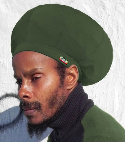 Jah Roots Stretch Hats (Forest Green)