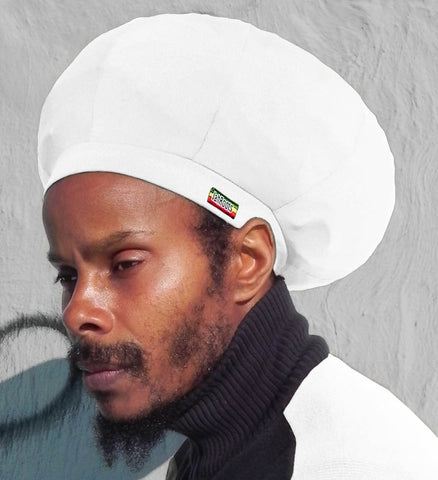 Jah Roots Stretch Hats (White)