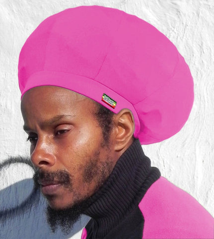Jah Roots Stretch Hats (Pink)