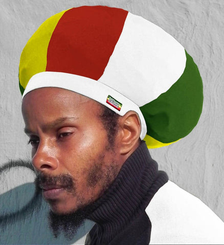 Jah Roots Stretch Hats (Ital-White, Yellow, Red, & Green)