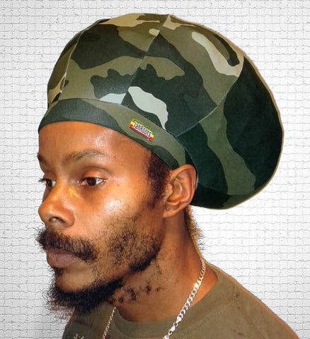 Jah Roots Stretch Hats (Camo)