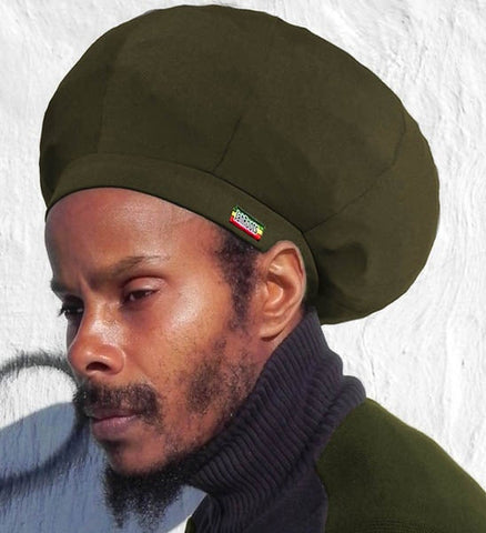 Jah Roots Stretch Hats (Olive)