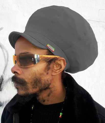 Jah Roots Stretch Hats With Beak (Gray)