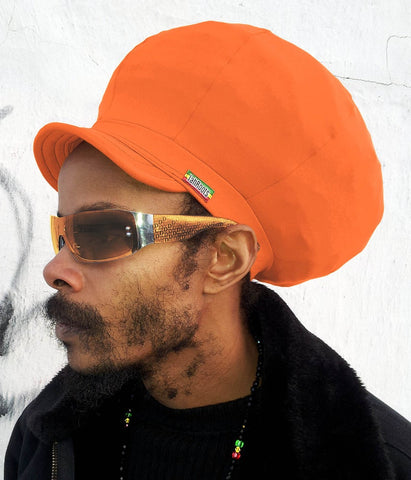 Jah Roots Stretch Hats With Beak (Orange)