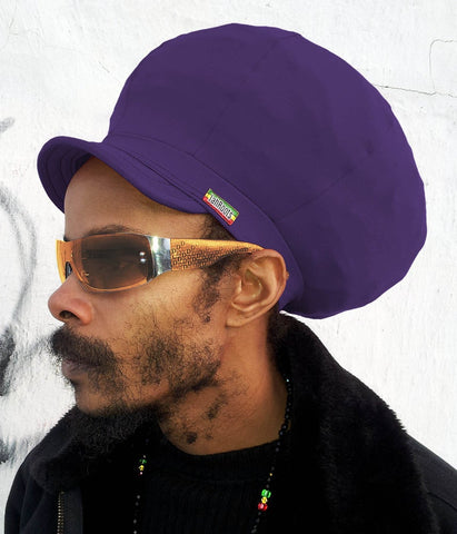 Jah Roots Stretch Hats With Beak (Purple)