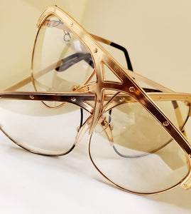 Criss-Cross Gold Frame Sunglasses