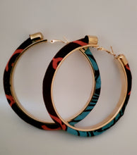 Load image into Gallery viewer, Fabric Embellished Hoop Earrings (More Colors)
