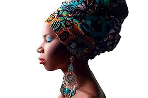 African Print Fabric Head Wraps