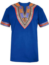 Load image into Gallery viewer, Short Sleeve Dashiki Embellished Men's Tee