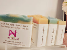 Load image into Gallery viewer, Handmade Shea & Olive Oil Soap Bars
