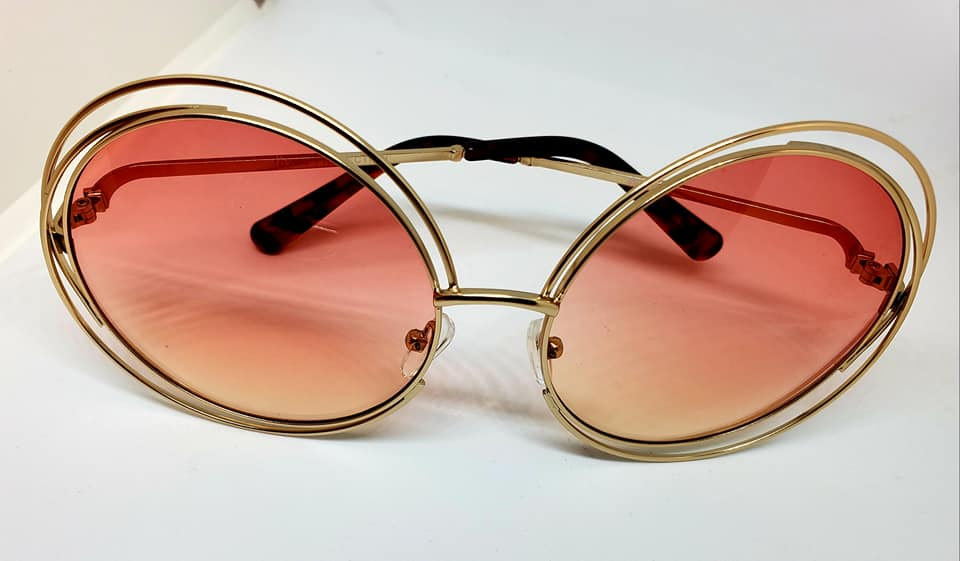 Circle Framed Colored Lens Sunglasses