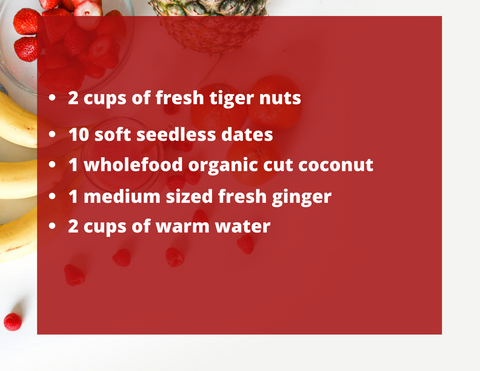 tigernut milk recipe