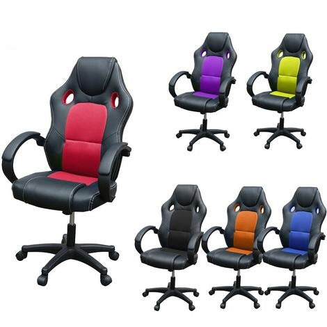 High Back PU Leather Gaming Office Chair (Multiple Colour Options) - Gaming Chairs Ireland