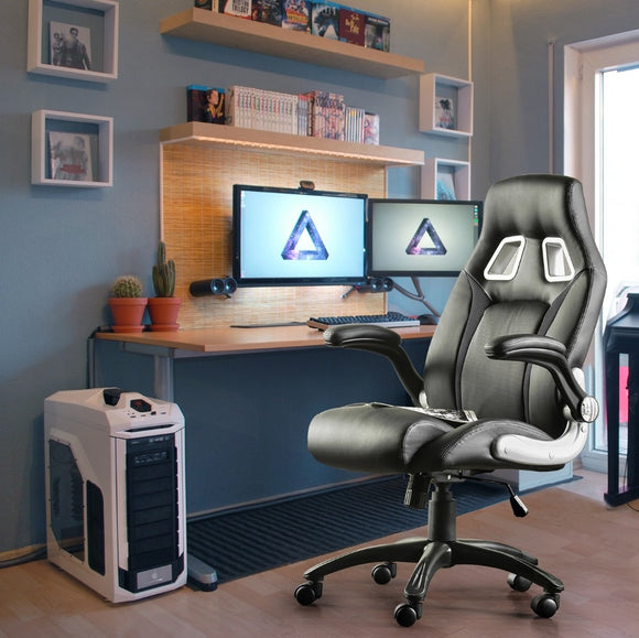 Furgle Office Sports Gaming Chair With Footrest and Adjustable Height - Gaming Chairs Ireland