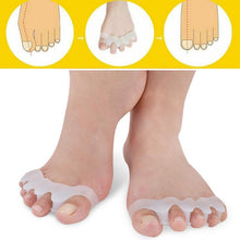 Load image into Gallery viewer, 1 Pair Toe Straightener Silicone Toe Separator