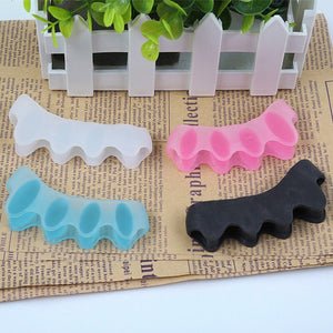 1 Pair Toe Straightener Silicone Toe Separator