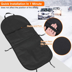 Audew 2 Pack Universal Car Heated Seat Cushion