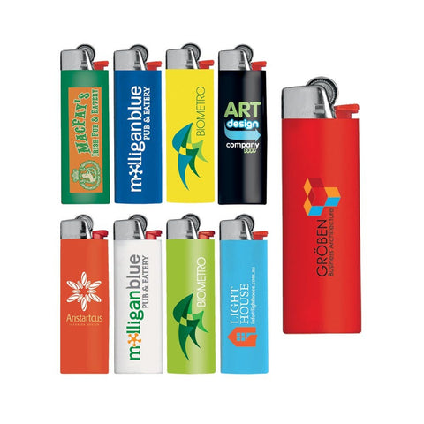 Bic lighters printed