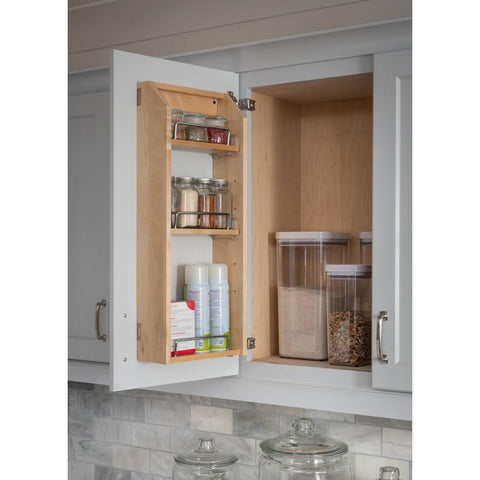 "12-1/2"" x 4"" x 24"" Adjustable Spice Rack for 18"" Wall Cabinet"