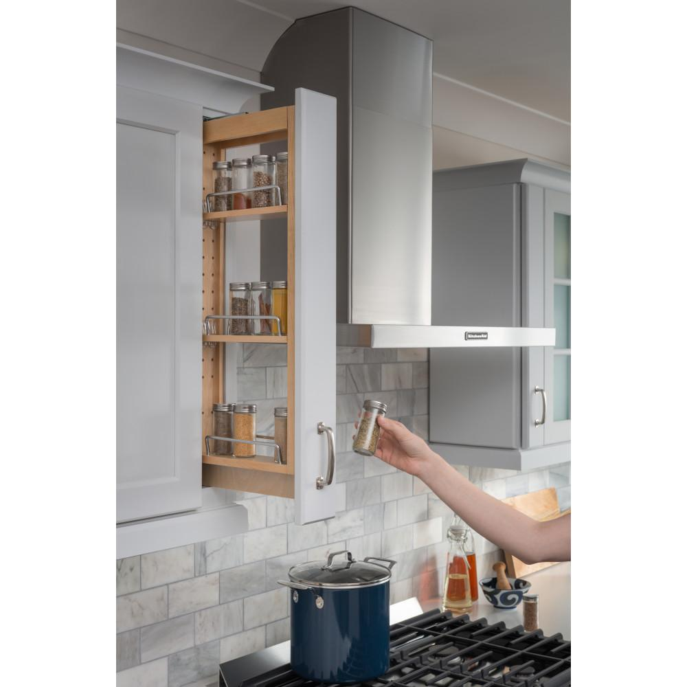 """3"""" x 11-1/8"""" x 30"""" Wall Cabinet Filler Pullout"""