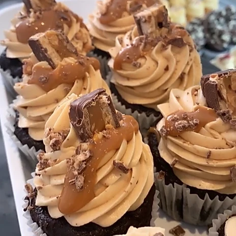 Gluten Free Snickers Cupcake