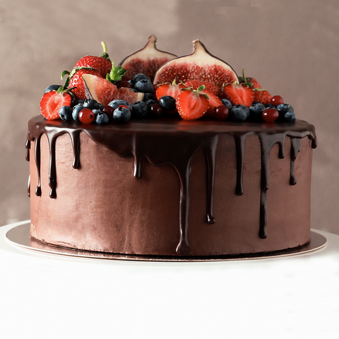 Stunning Fruit and Chocolate Cake