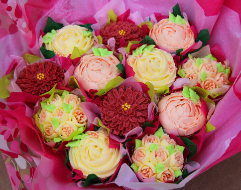 Vegan Twelve Cake Cupcake Bouquet