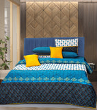 5 PCs Bed Sheet - Diamonds