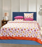 4 Pillows King Cotton Bed Sheet -  Rangoli