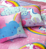 Cartoon Character Bed Spread Set - UniCorn