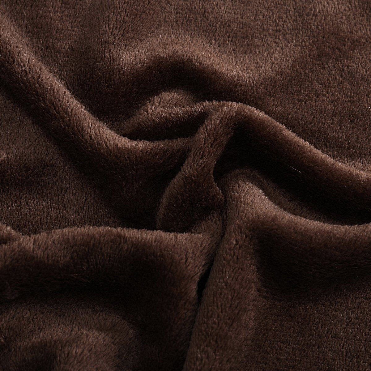 High Density Super Soft Fleece Summer Blanket - Dark Brown
