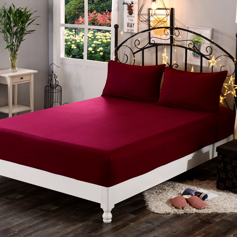 Dyed 100% Cotton Fitted Bed Sheet - MAROON