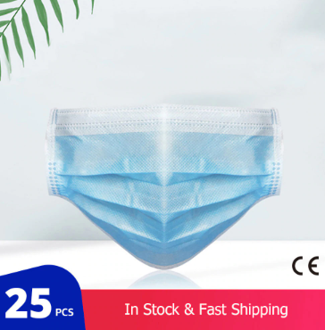 3 Layer FDA / CE Certification Disposable Medical Mask (25packs)