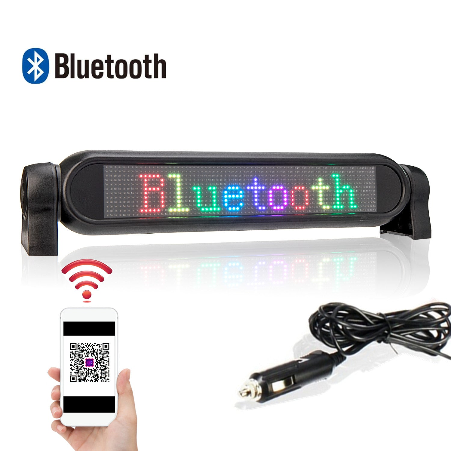 LED Display Screen Car Sign Bluetooth Programmable