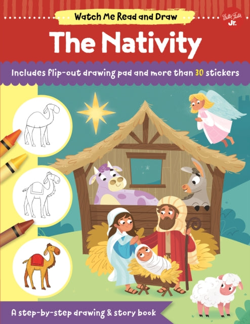 Watch Me Read and Draw: The Nativity : A step-by-step drawing & story book-9781633227668