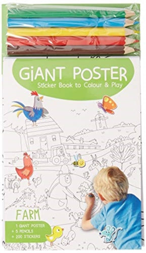 Giant Poster Colouring Book: Farm-9789463602778