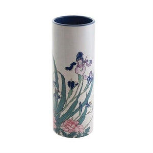 Dartington Houkasai Irises Peonies Sparrows Vase