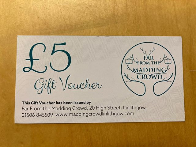 Far From the Madding Crowd Gift Voucher - £5
