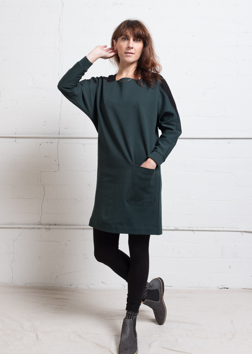 Square Neck Sweater Dress