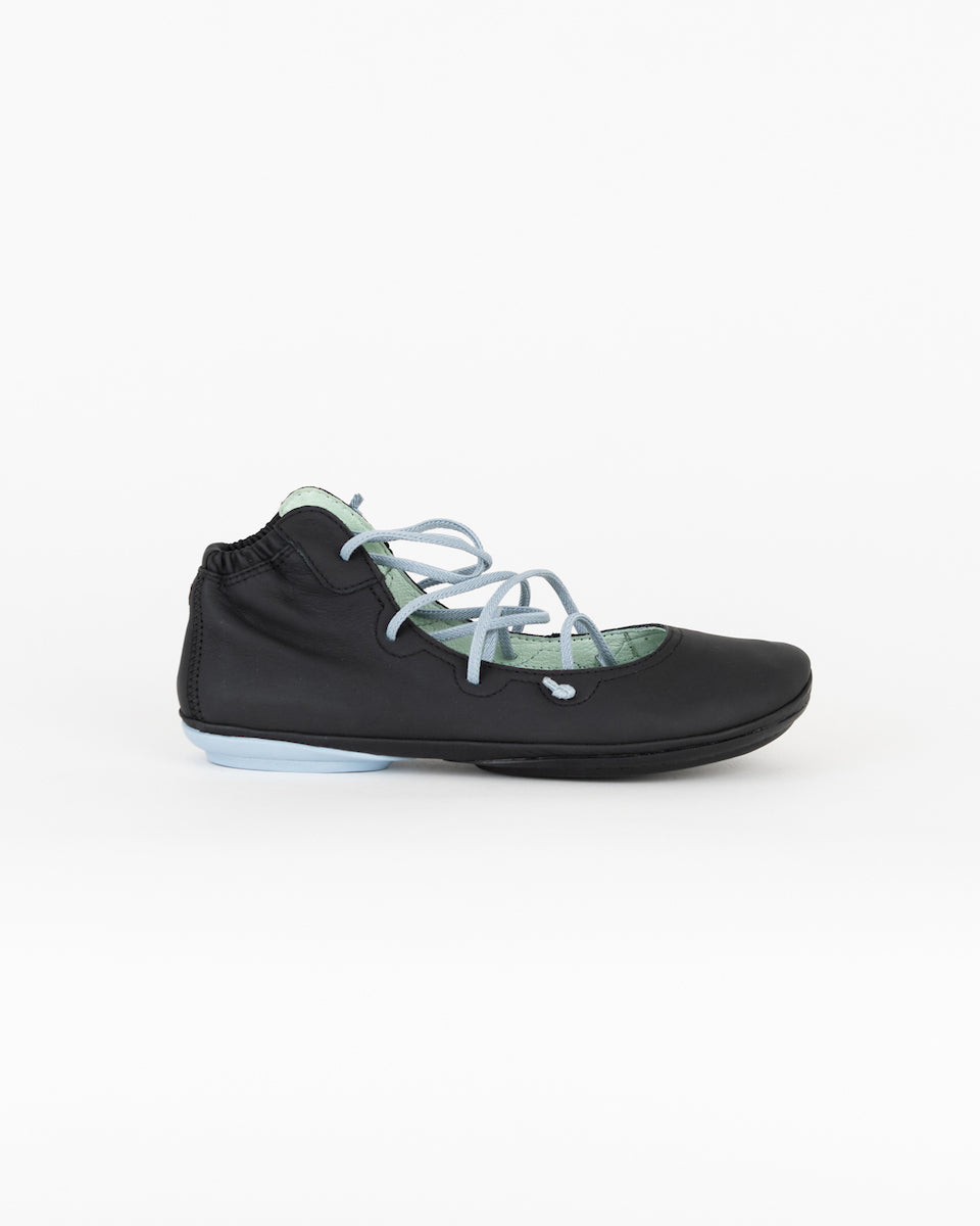 Clementines Seattle Womens Shoes Flat Camper Right Nina Nubuck Rubber Black Baby- Blue