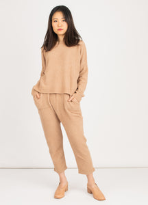 Clementines Atelier Delphine Kiko Pants Alpaca Comfortable Tan Ladies Apparel Seattle