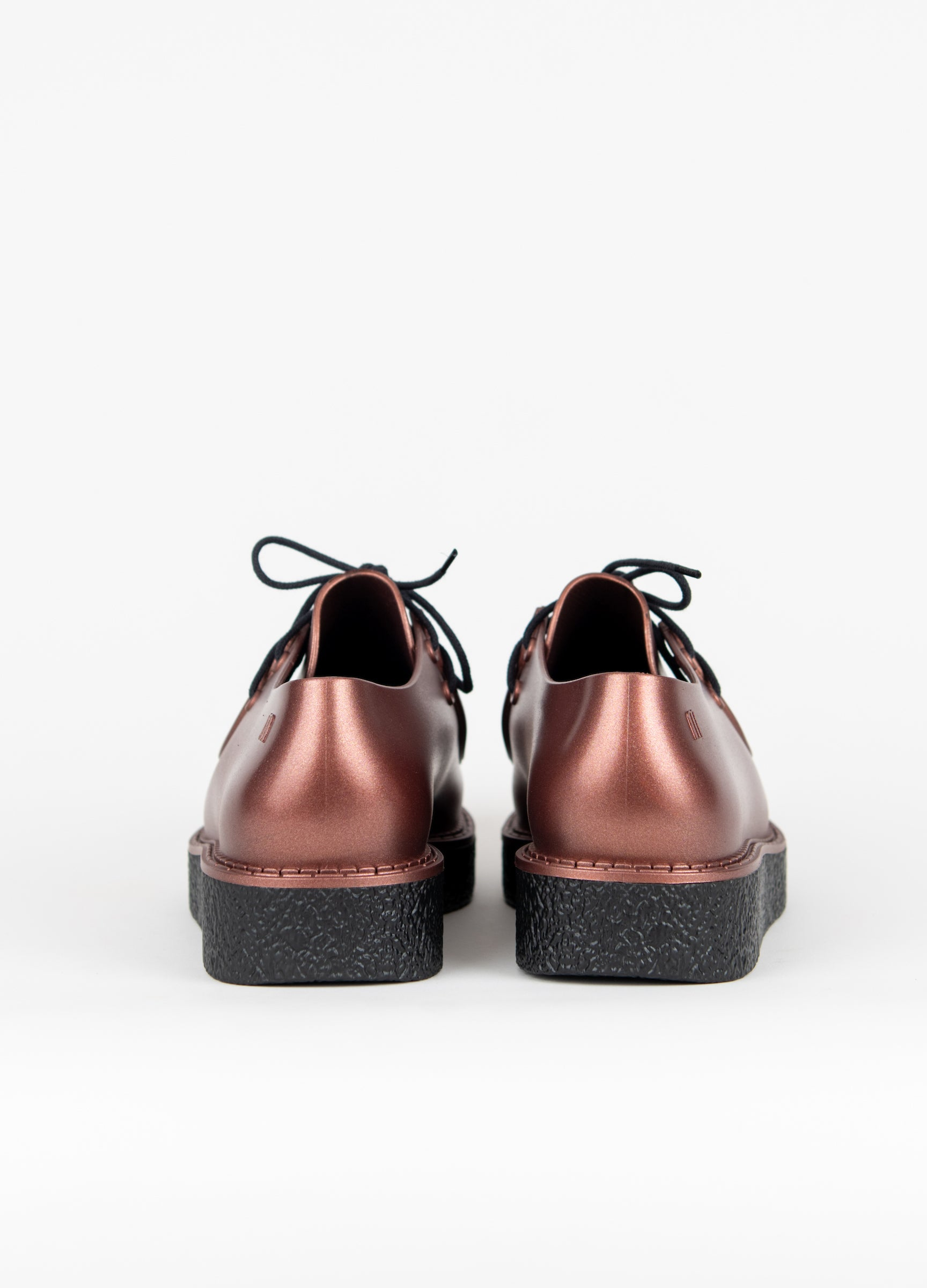 Clementines Melissa Billy Creepers Copper Black Platform Non-Leather Women Shoes Seattle Back View