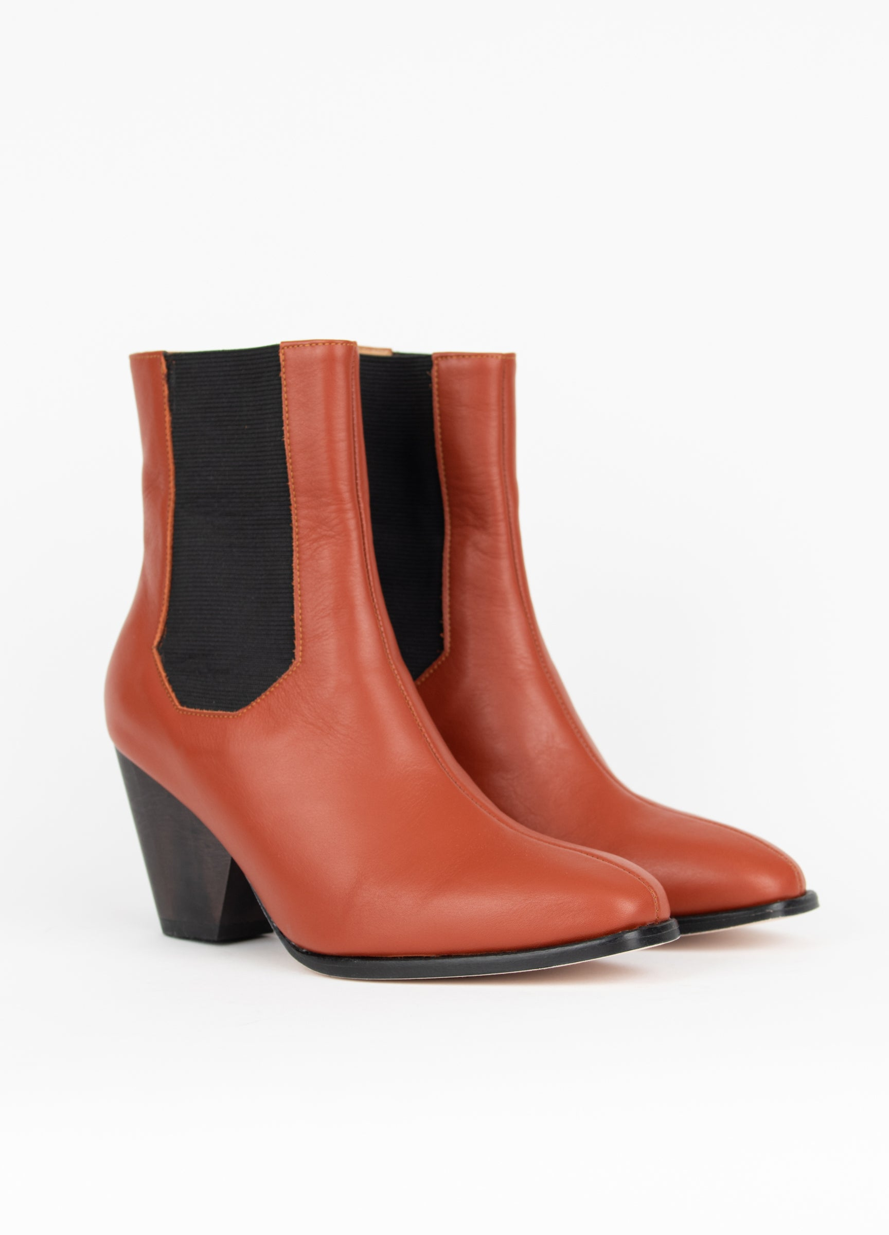 "Clementines The Palatines Ingeria Duo Boot Rosewood Leather 3"" Heel Women's Shoes Seattle Pair"