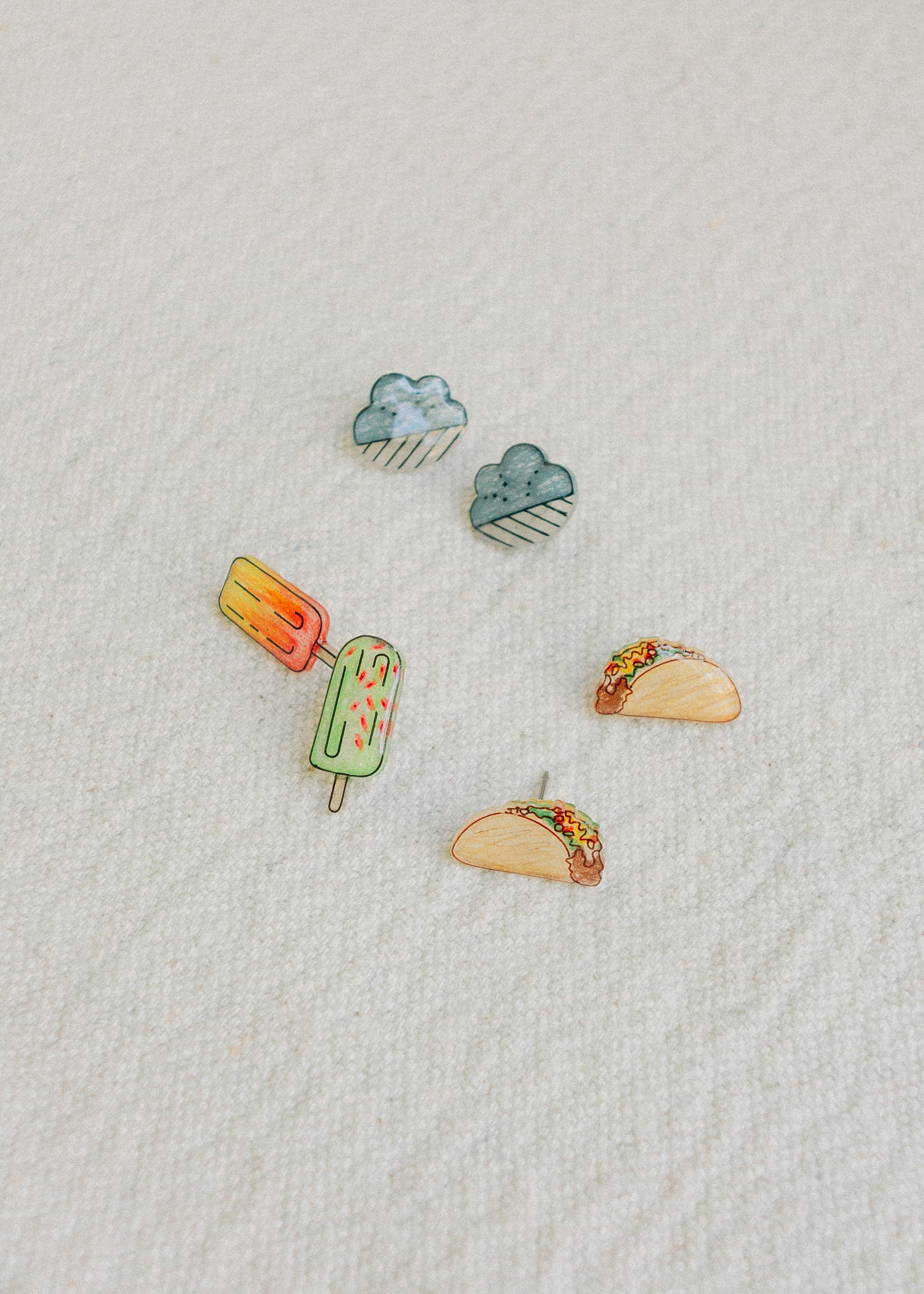 Food & Other post earrings