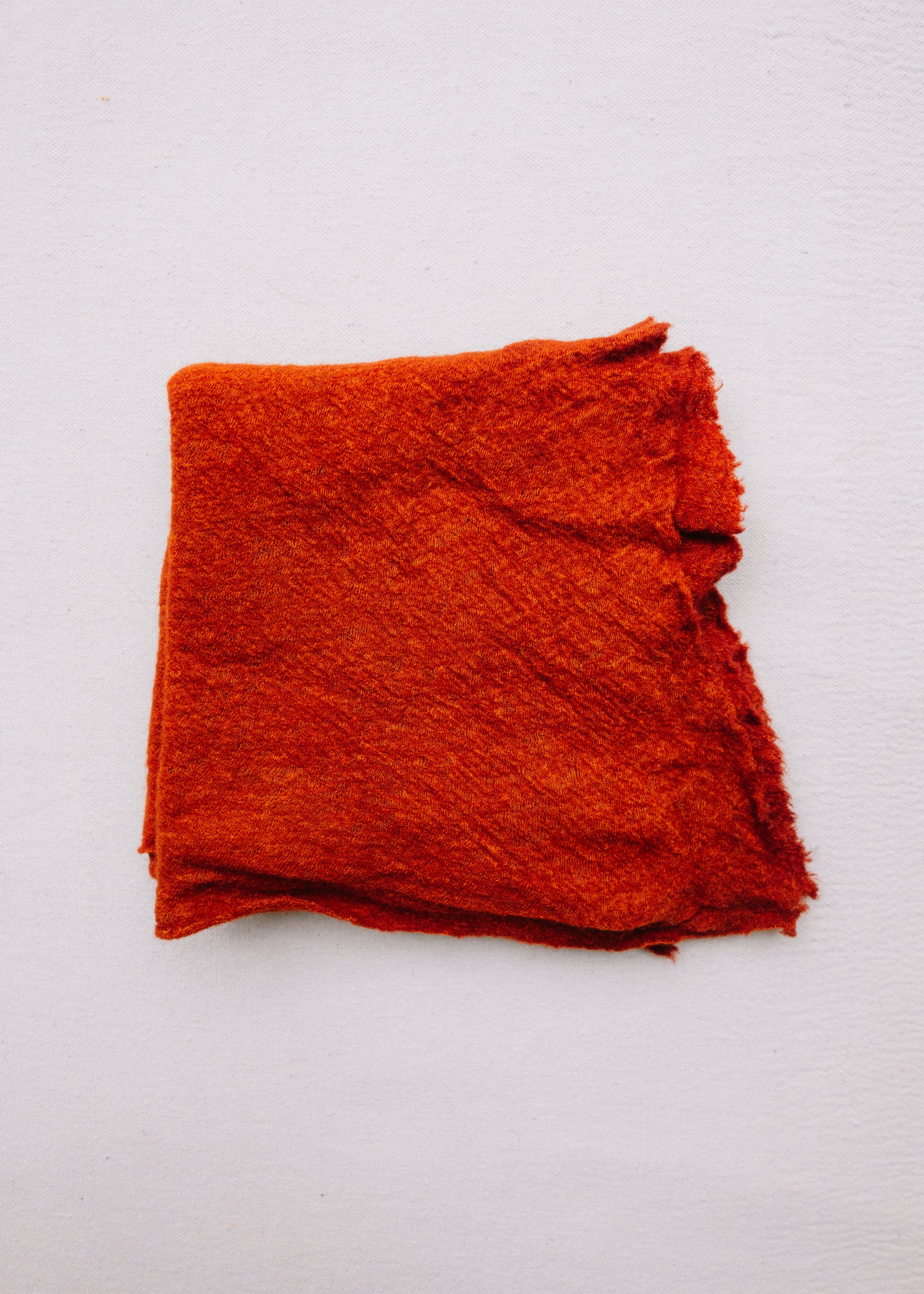 Cayenne red baby wool scarf.