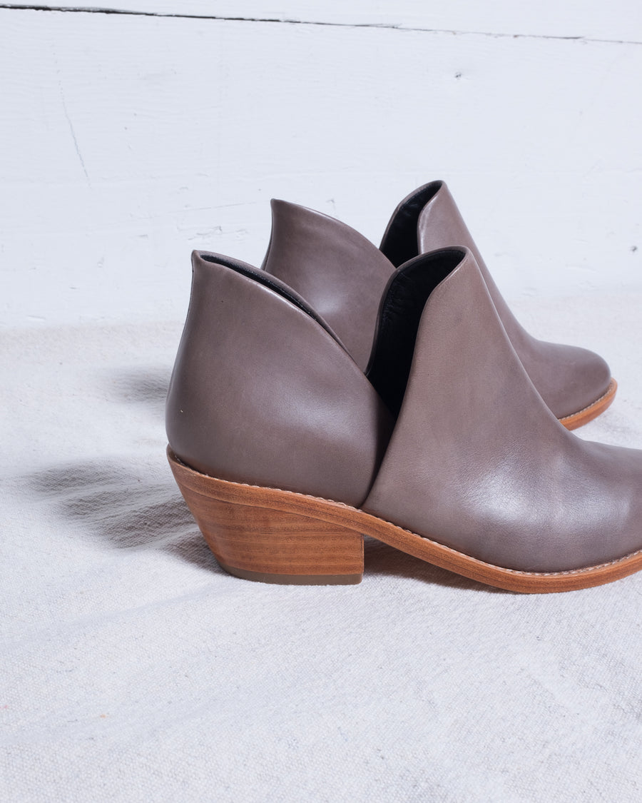 Clementines Seattle Womens Shoe Fortress Of Inca Elise Boots Steel Grey Leather Wood
