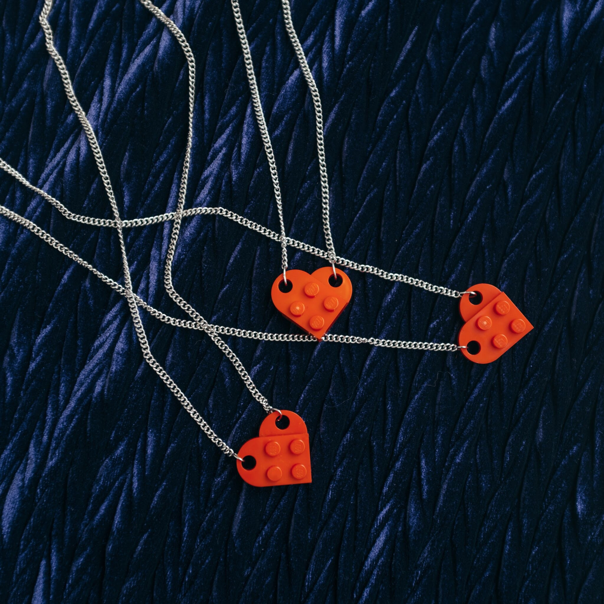 LEGO heart necklace